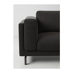 NOCKEBY 3-seters sofa - Tenö mørk grå/tre - IKEA