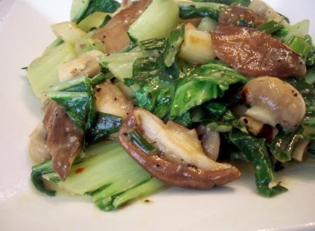 Sauteed Bok Choy With Mushrooms Recipe  - Food.com