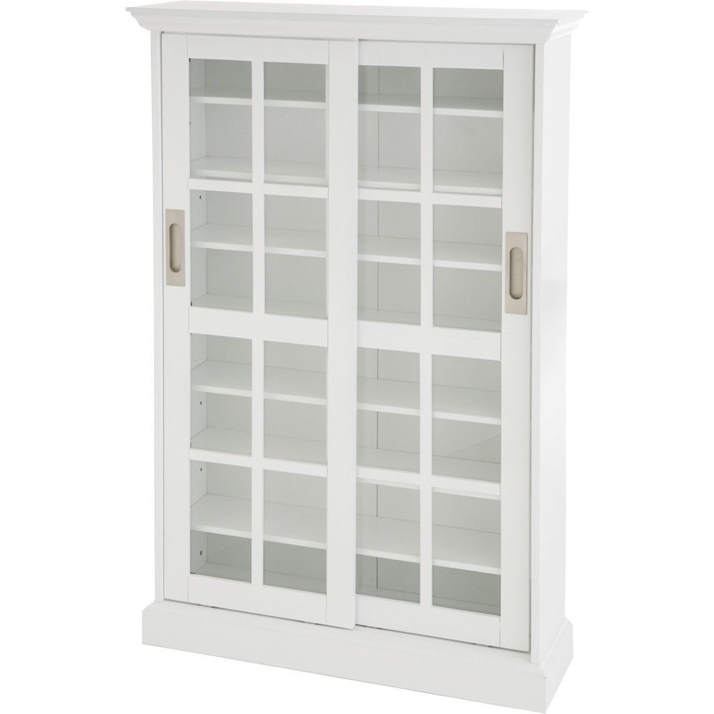 Pure Sliding Door Cabinet White Media Cabinet Sliding Doors
