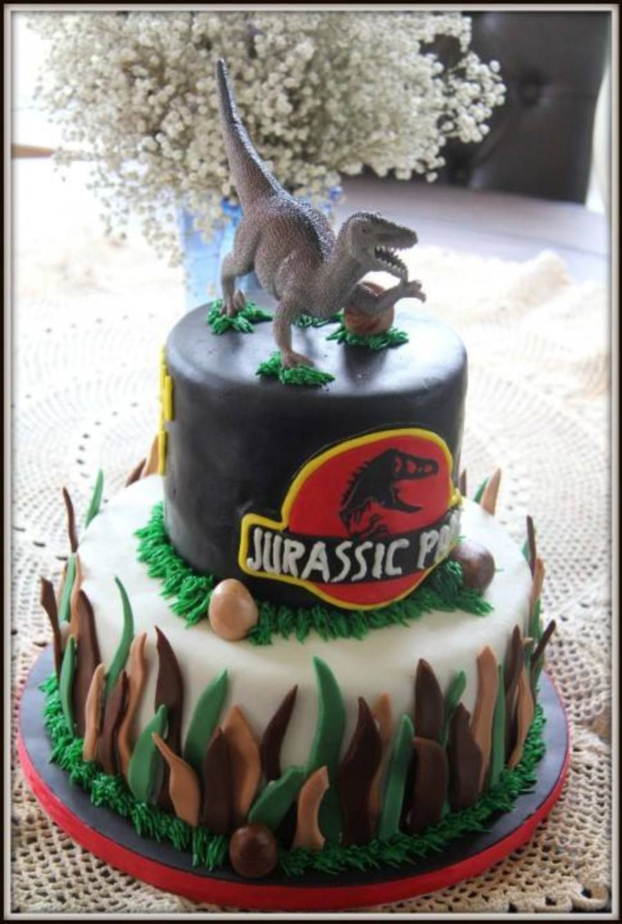 Jurassic Park With Images Dinosaur Birthday Cakes Jurassic