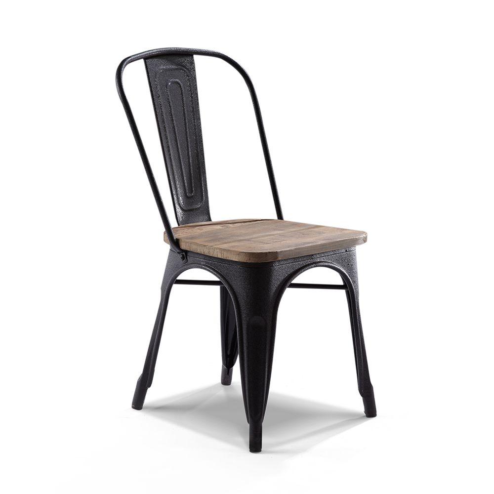 chaise de bar industrielle en bois et métal | chaises | pinterest ... - Chaise Metal Industriel Pas Cher