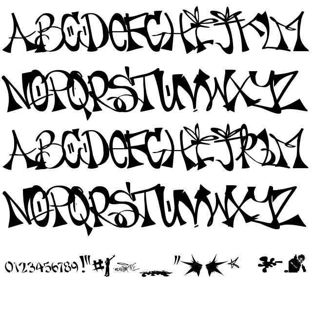 PLAN-A-EMCEE - URBAN HOOK-UPZ Font