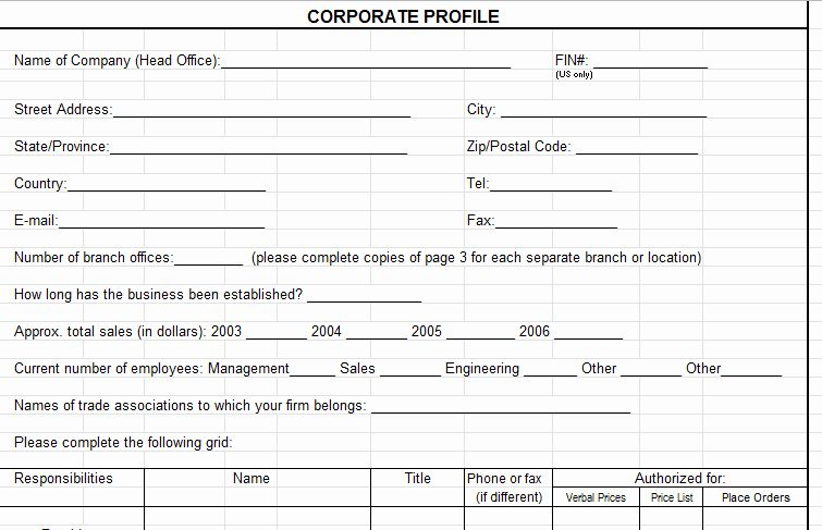 Vendor Information Form Template Excel Luxury Vendor Evaluation Form Supplier Scorecard Company Profile Template Writing A Reference Letter Corporate Profile