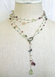 Gemstone Lariat Necklace How To Make Necklaces