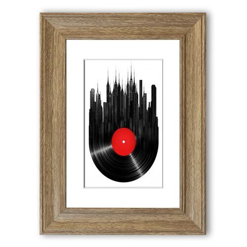 East Urban Home Gerahmter Grafikdruck Album Music City | Wayfair.de #albumart