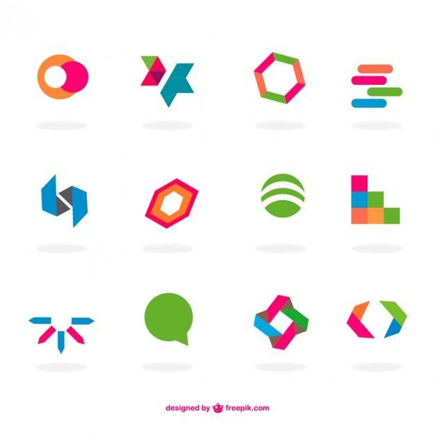 logos planos abstratos definir