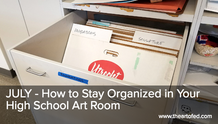 How to Stay Organized in Your High School Art Room images