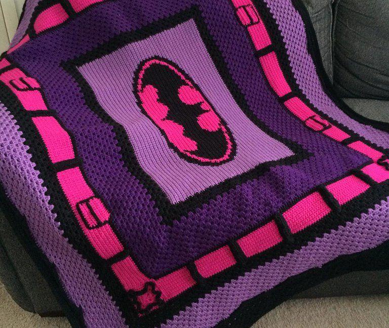 Crochet Batman Blanket Pattern, Crochet Batman Blanket, Crochet Sp ...