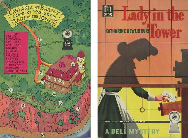 Dell Books 191 - Katharine Newlin Burt - Lady in the Tower (with mapback)
