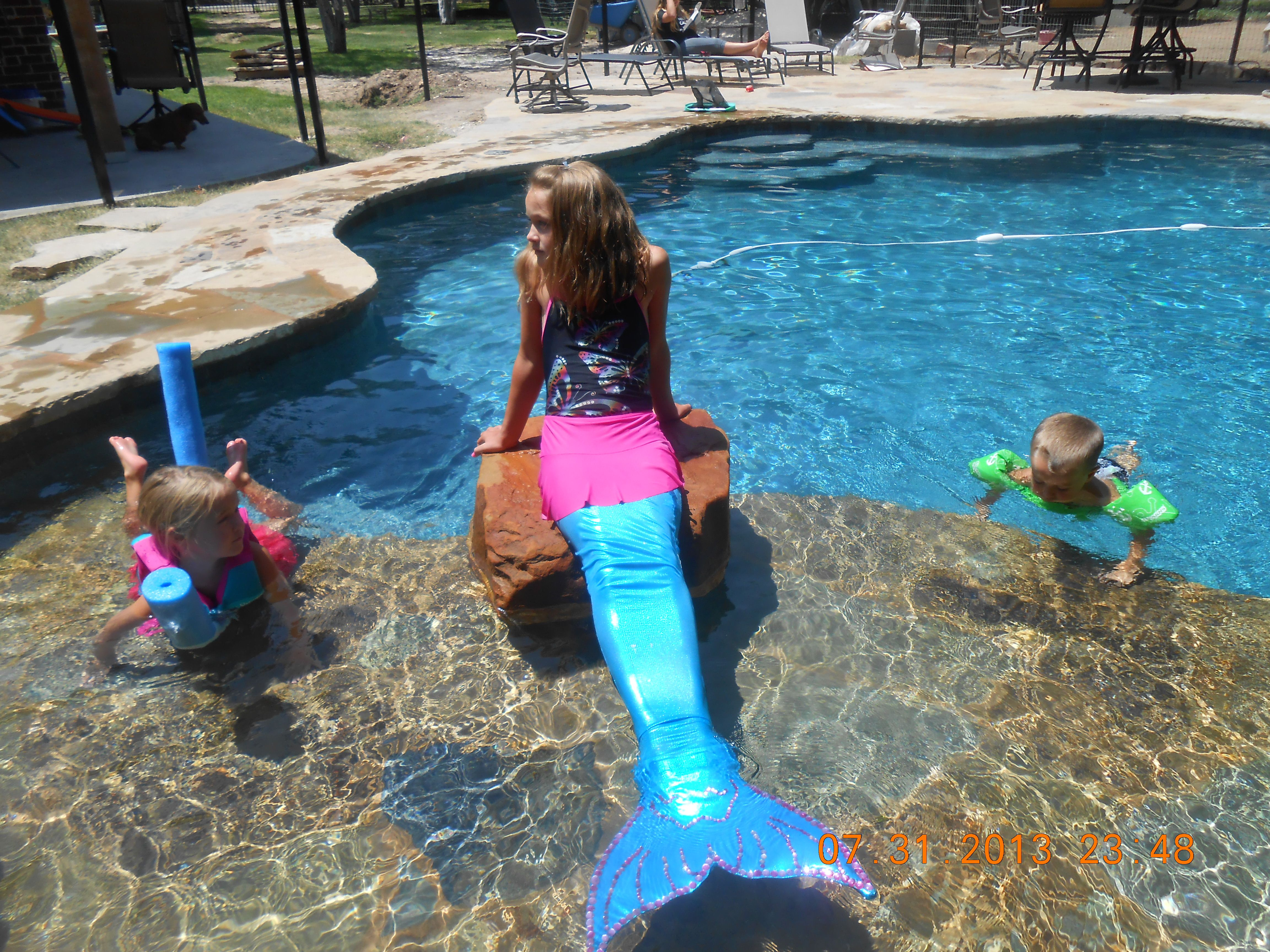My Homemade Mermaid Tail It Is Swimmable The Monofin Is -9637