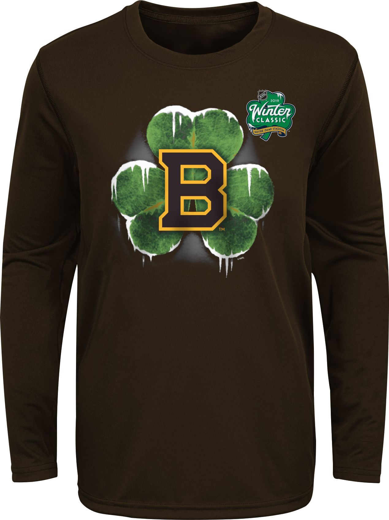 6427df737 NHL Youth 2019 Winter Classic Boston Bruins Under Ice Brown Long Sleeve  Shirt
