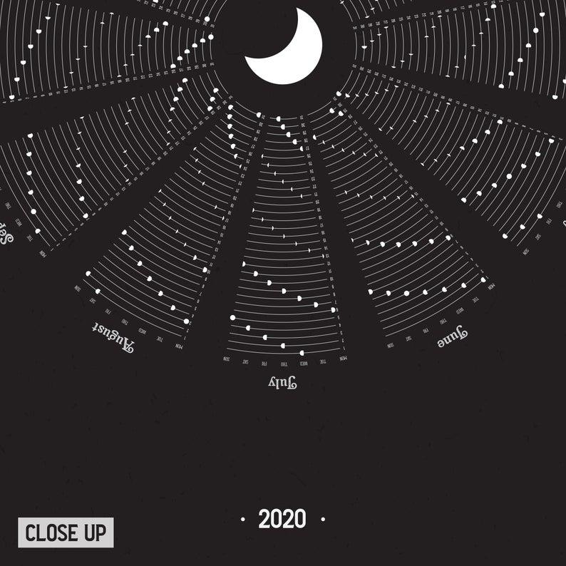 2021 Calendar with Moon Phases, 2021 Moon Calendar at a Glance