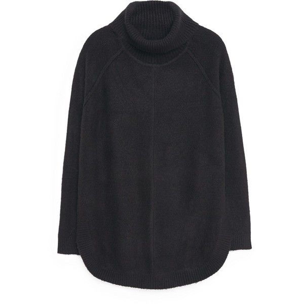 MANGO Turtle Neck Sweater (69 BAM) ❤ liked on Polyvore featuring tops, sweaters, crochet sweater, turtle neck sweater, loose turtleneck sweater, cable knit turtleneck sweater and cableknit sweater