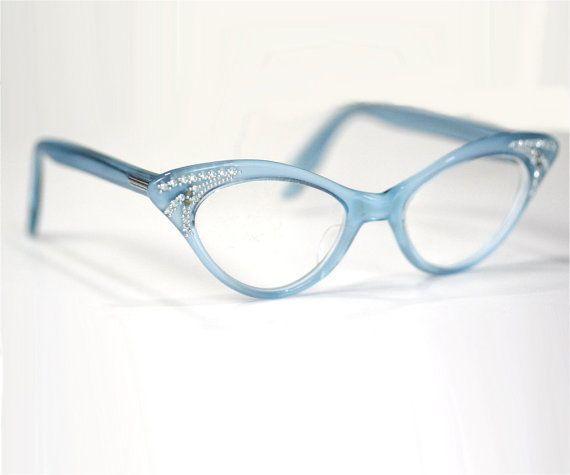 Vintage 50s  60s Blue Cat Eye Glasses Frames by ArtifactVintage 11000 Vintage 50s  60s Blue Cat Eye Glasses Frames by ArtifactVintage 11000
