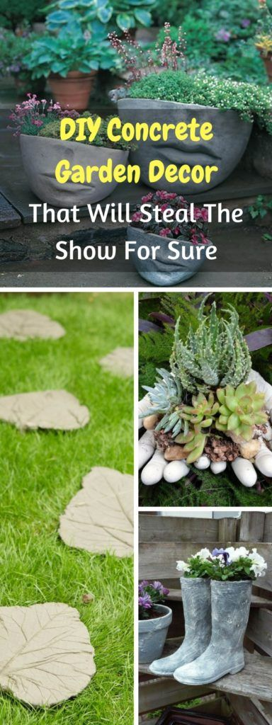 DIY Concrete Garden Decor That Will Steal The Show For Sure The
