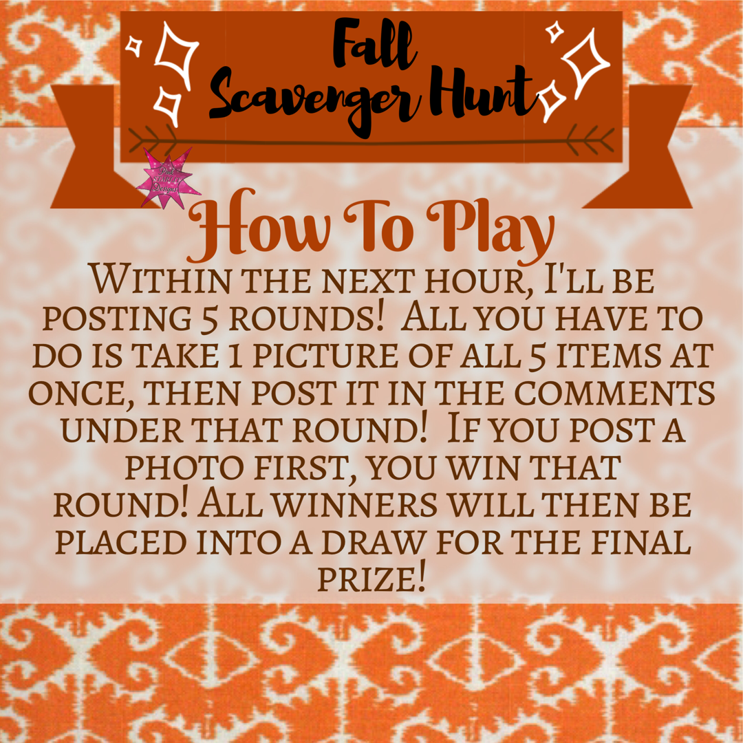 Scavenger Hunt game rules for Facebook VIP group or party