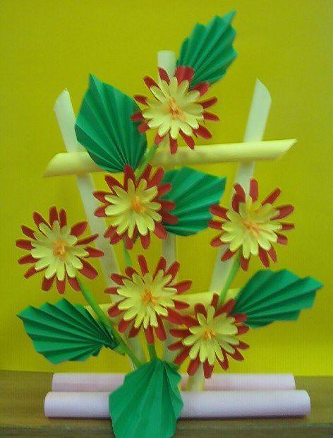 Kwiaty Z Papieru Ikebana Prace Plastyczne Dariusz Zolynski Flowers Paper Paper Flowers Orgiami Ki Vesennie Podelki Remesla Bumazhnye Cvetochnye Remesla