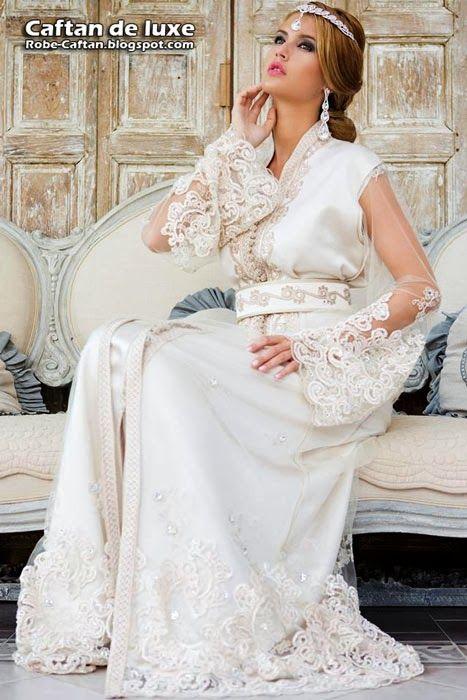 Caftan 2014 Robe De Mariee Blanche Caftans En 2019