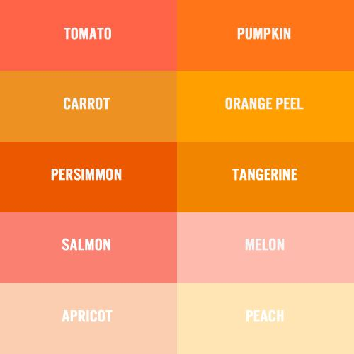 Awesome Colour Chart