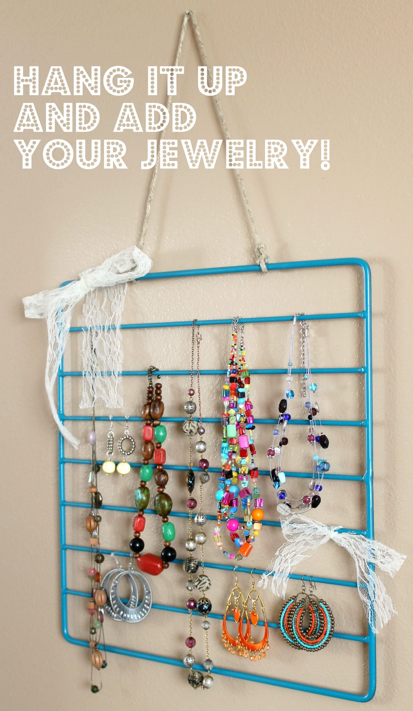 Oven rack to jewelry organizerI may just use this to organize
