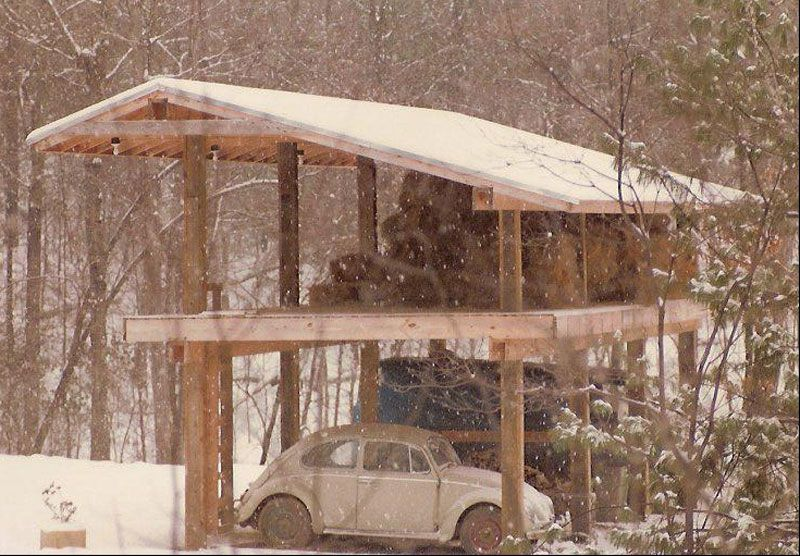 Building A Cabin Out Of Telephone Poles Google Search