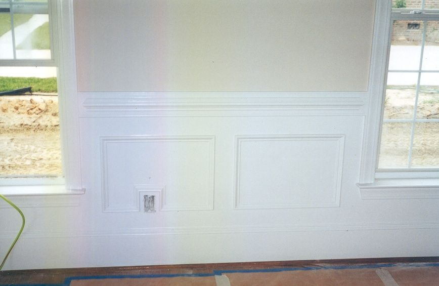 Kristi Here Is What The Wainscoting Would Do Around The Windows In Your Bedroom Dining Room Wainscoting Wainscoting Bathroom Diy Wainscoting