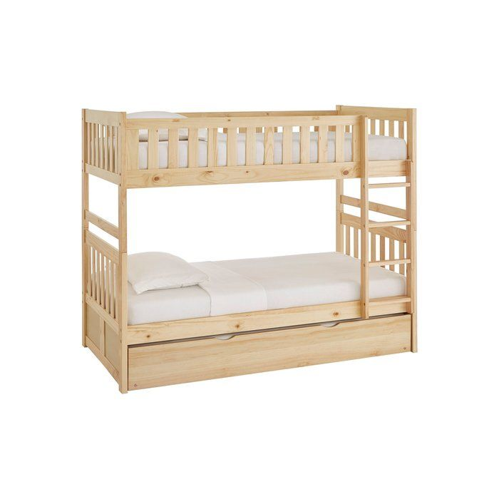 Wooden Bunk Beds With Movable Stairs And Trundle Wooden Bunk