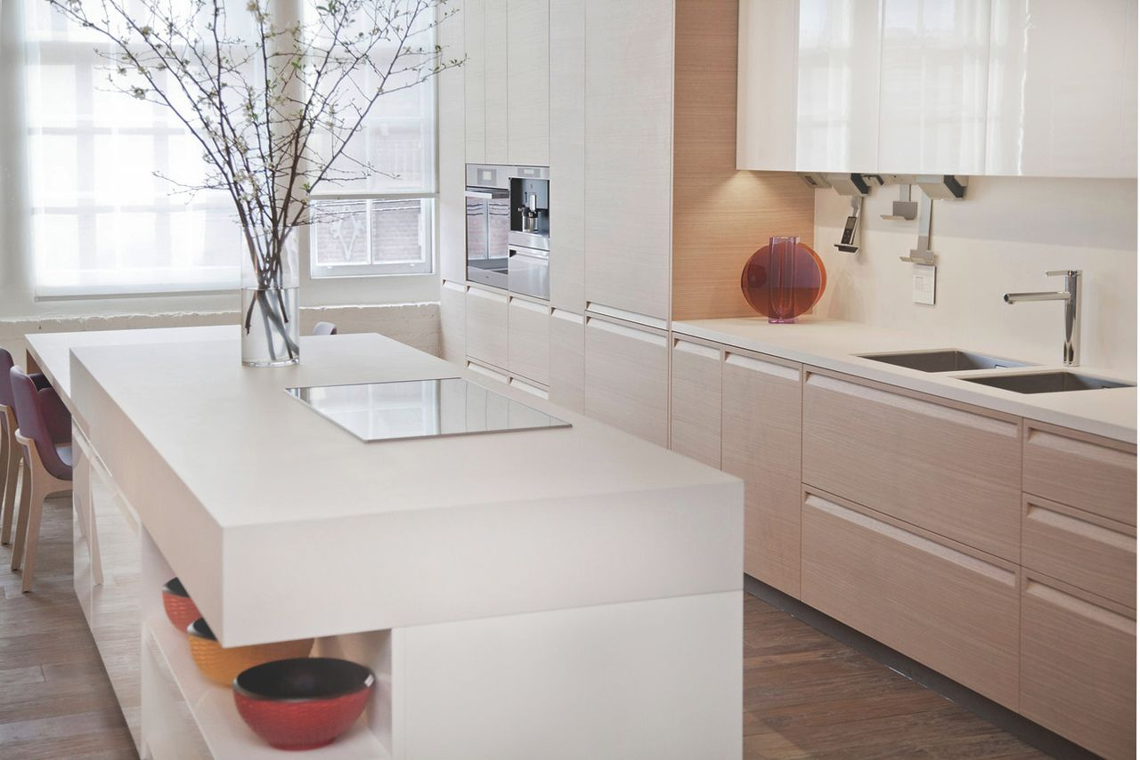 Sintered Compact Surface Kitchen Countertops Modern White