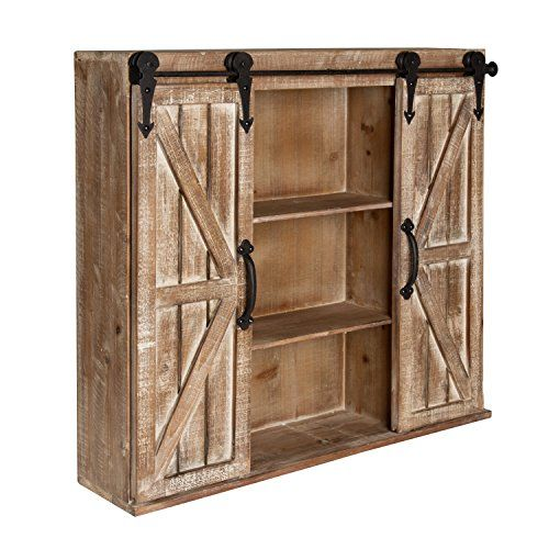 Kate And Laurel Cates Rustic Wood Wall Storage Cabinet: Kate And Laurel Cates Rustic Wood
