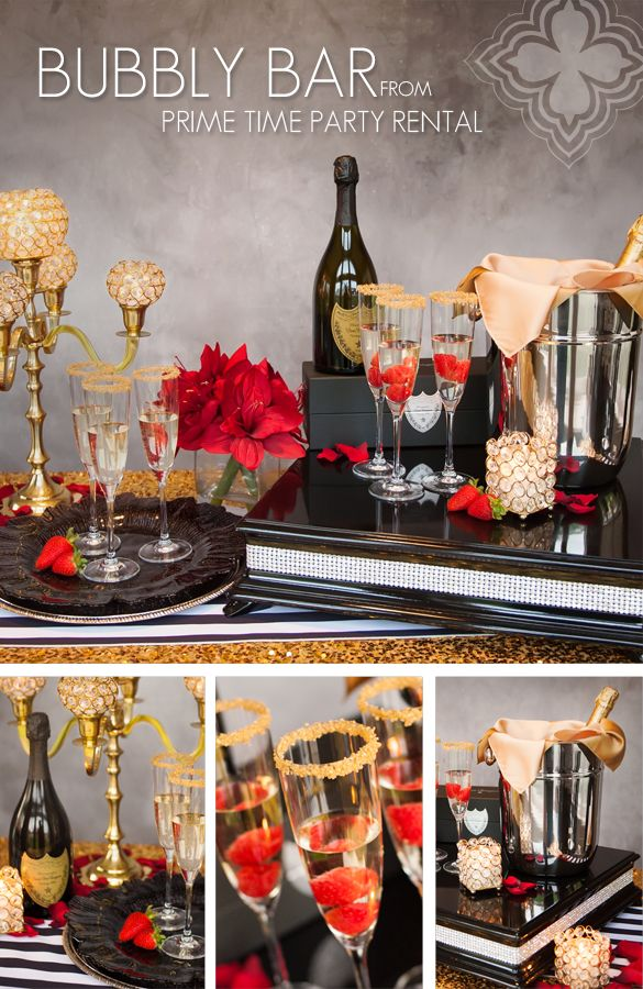Add a champagne or bubbly bar to your New Year's