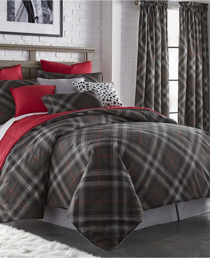 Colcha Linens Max Plaid Duvet Cover Set King Bedding Plaid