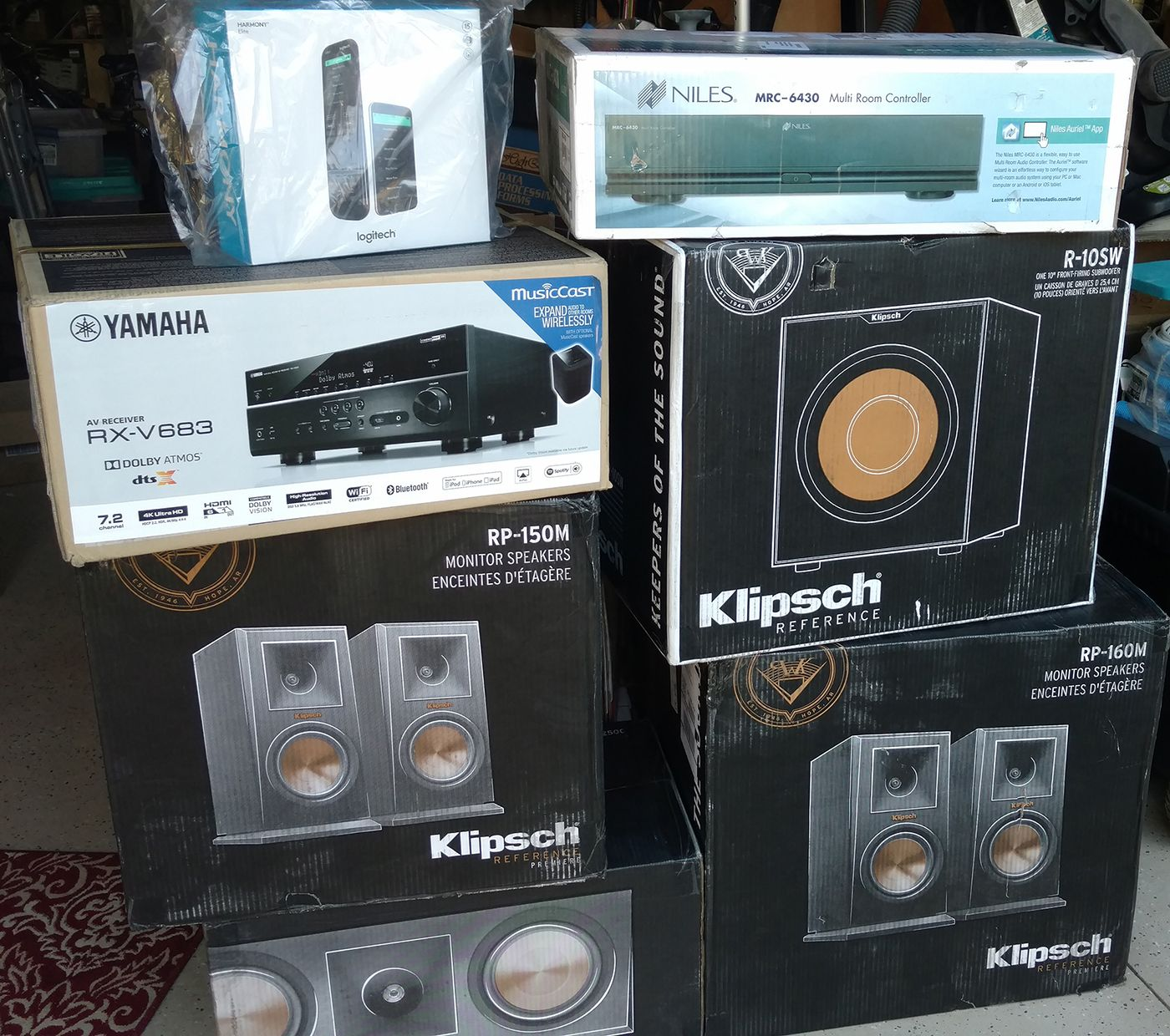 Some Of The Brands We Carry At Grand Central Wiring Klipsch Yamaha Home Audio Equipment Niles Harmony If You Need Any Help Picking Out Theater And