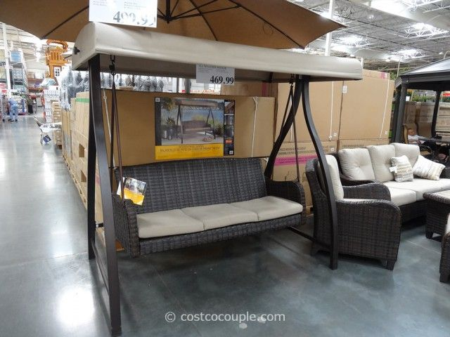 Agio International Fairview Woven Patio Swing Costco 3