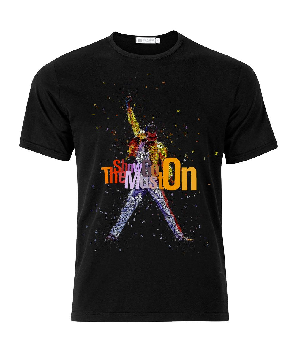 097fbc621d3 Queen Freddie Mercury Show Must Go On Rock T-Shirt