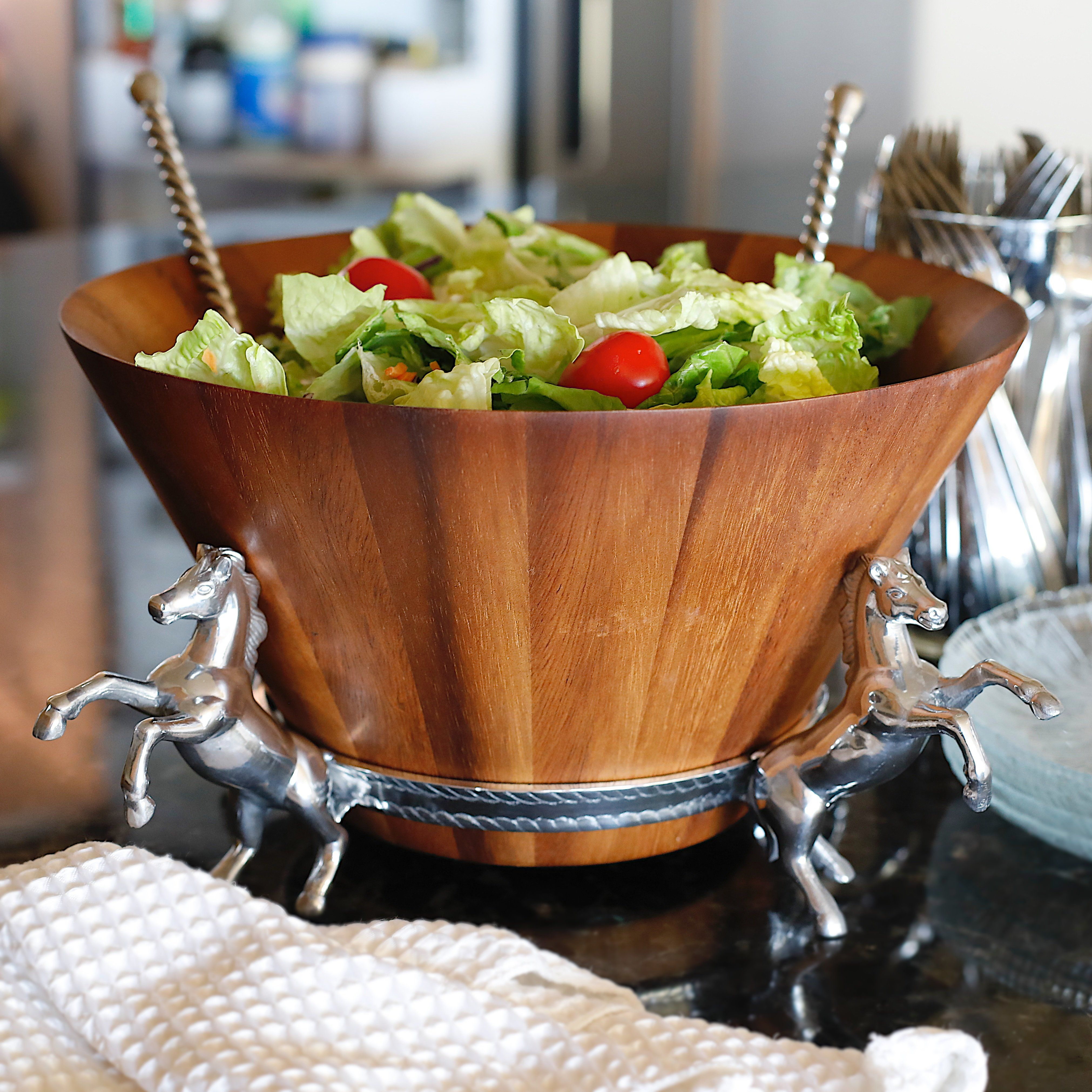 Four In Hand Salad Bowl In