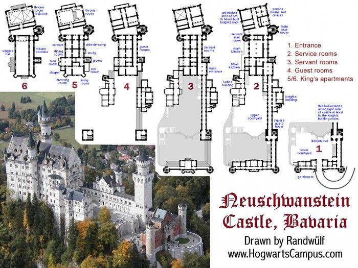 Very Pretty Castle High Mountain Top Floor Plan Plans Neuschwanstein
