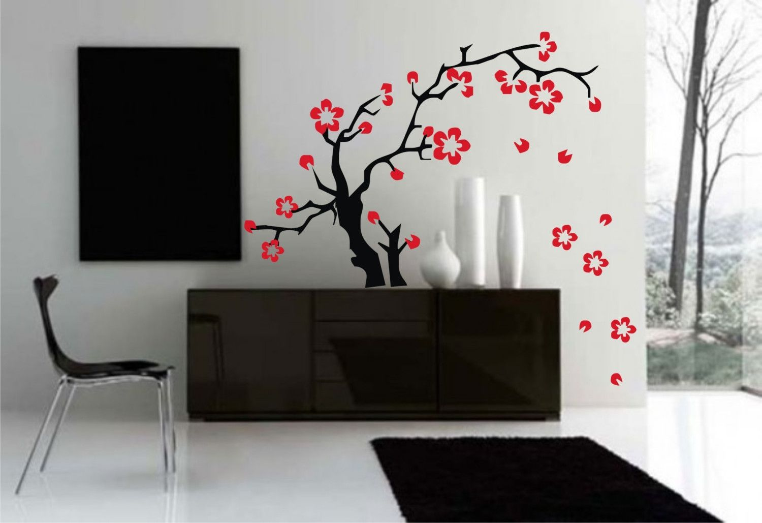 Japanese style decor asian design tattoo graphic and for 3d dining room wall art