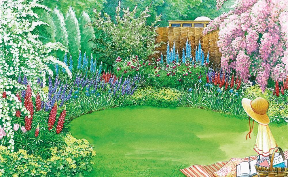 farbenpr chtiger sichtschutz in 2018 sichtschutz im garten pinterest garden garden. Black Bedroom Furniture Sets. Home Design Ideas
