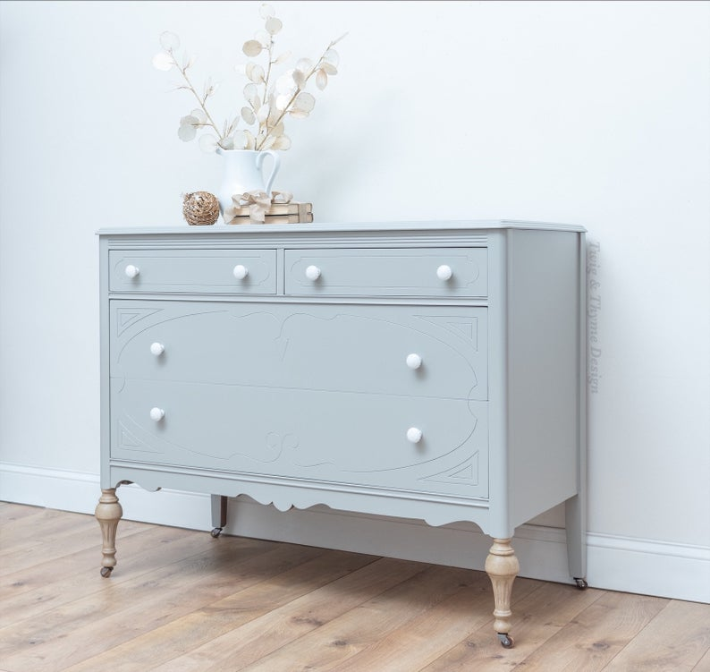 Modern Farmhouse Vintage Gray Dresser Etsy in 2020