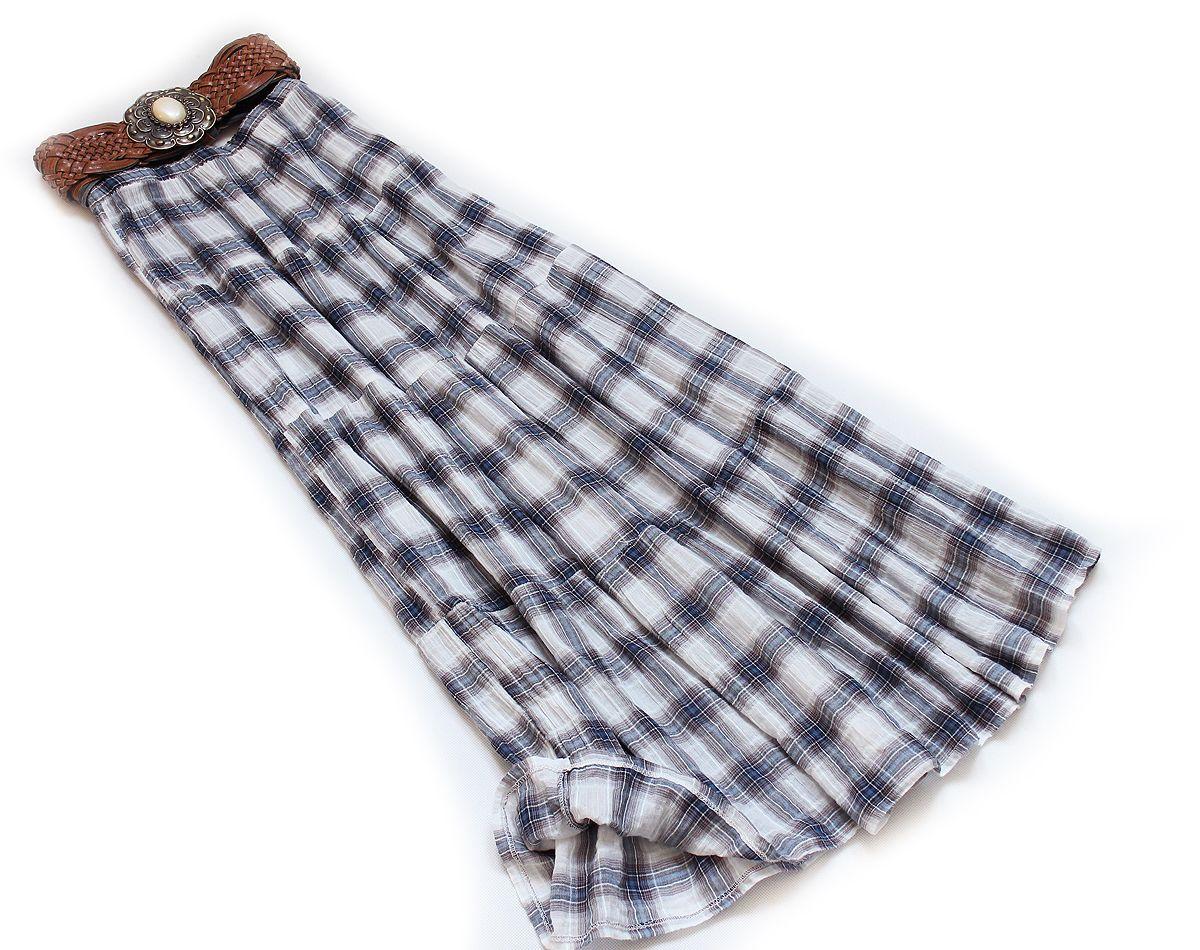 Hm Lekka Spodnica Maxi Prosta Na Lato Krata S M L 7306778354 Oficjalne Archiwum Allegro Fashion Tie