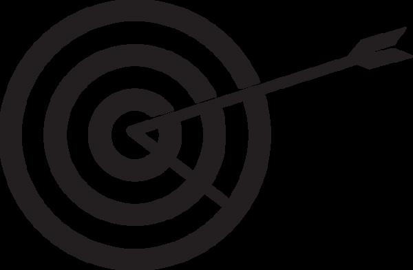 435ga Stylized Target And Arrow Target Image Bullseye Tattoo Arrow Illustration