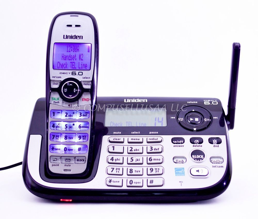 Uniden Dect2185 Dect 6 0 Digital Cordless Phone With Digital Answering System Schnurlose Telefone