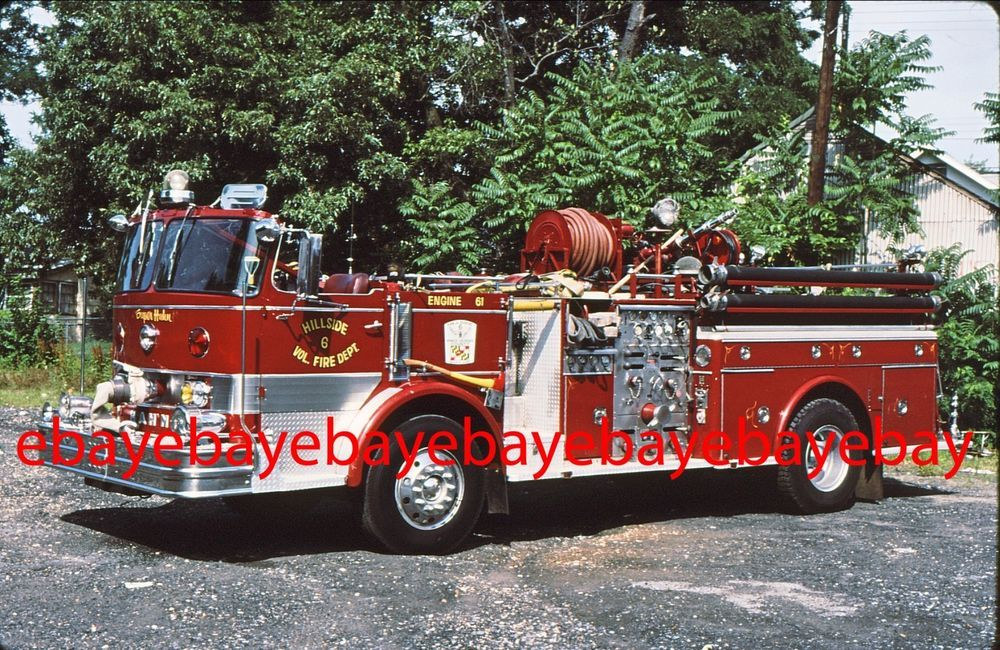 Fire Apparatus Slide, Engine 61, Hillside / MD, 1967 Hahn