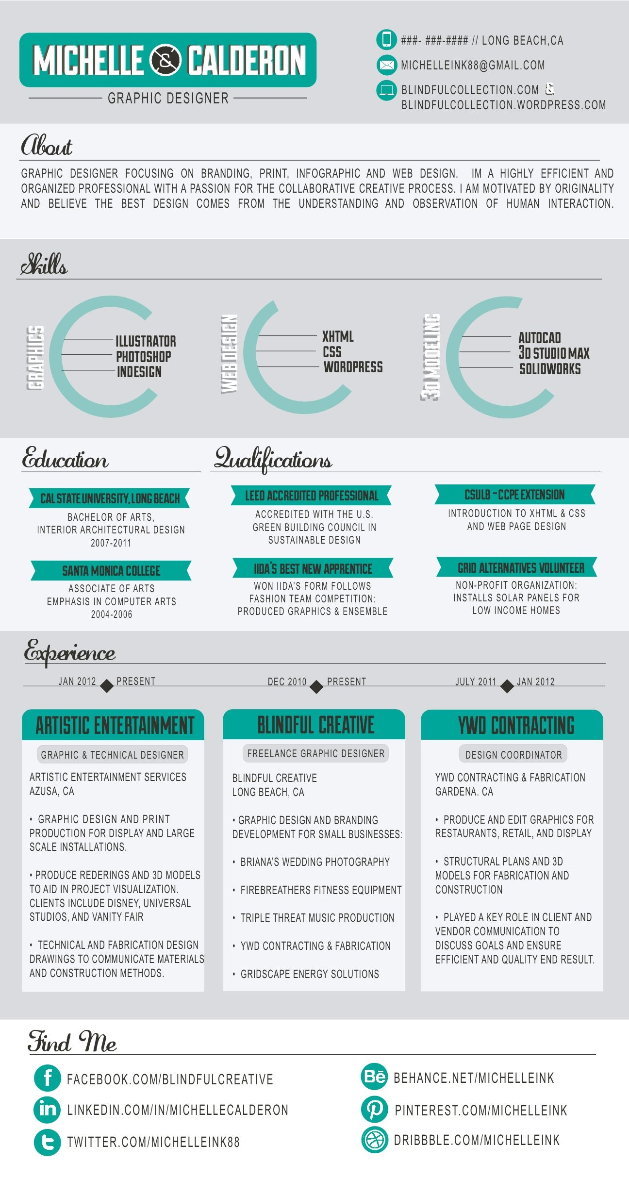 infographics infographic resume by calderon