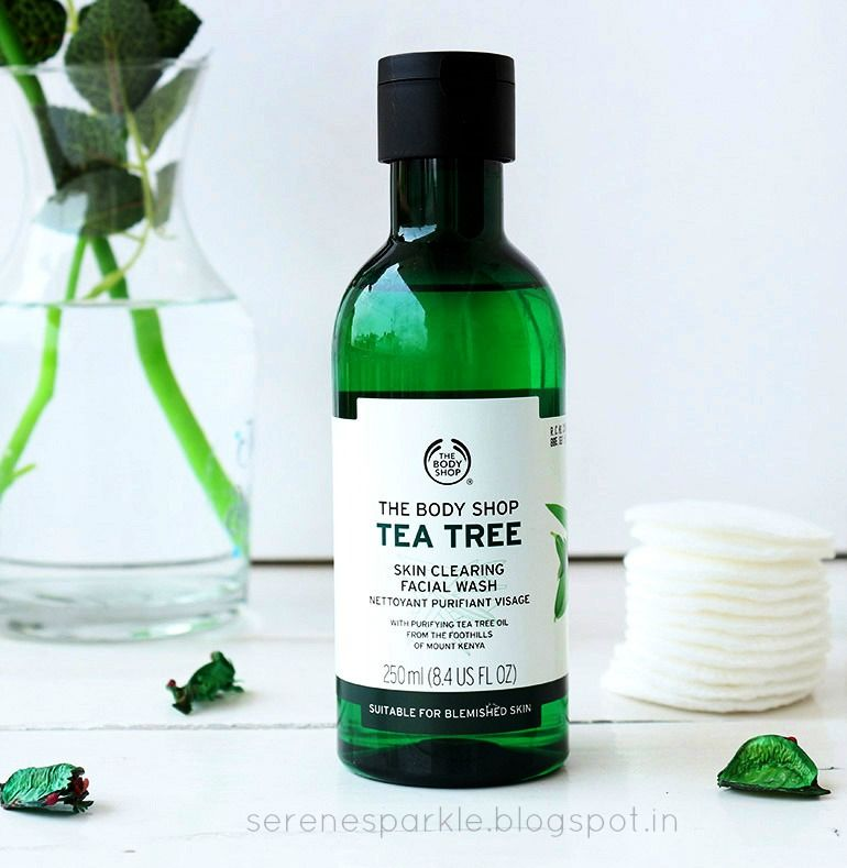 The Body Shop Tea Tree Skin Clearing Facial Wash Review Serene Sparkle Body Shop Tea Tree Skin Bleaching Cream The Body Shop