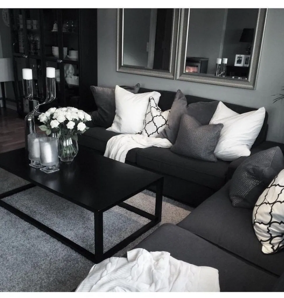 200 manly living room decor ideas in the masculin black 20 ...