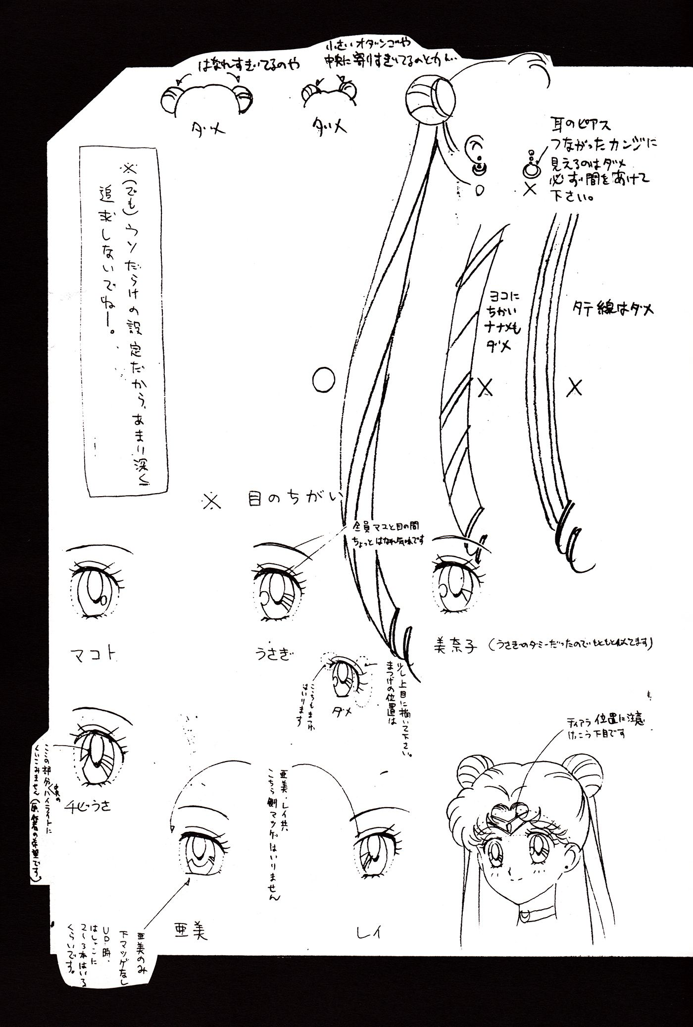 Character Reference Sheet Settei For Sailor Moon Usagi Tsukino From Sailor Moon Series By