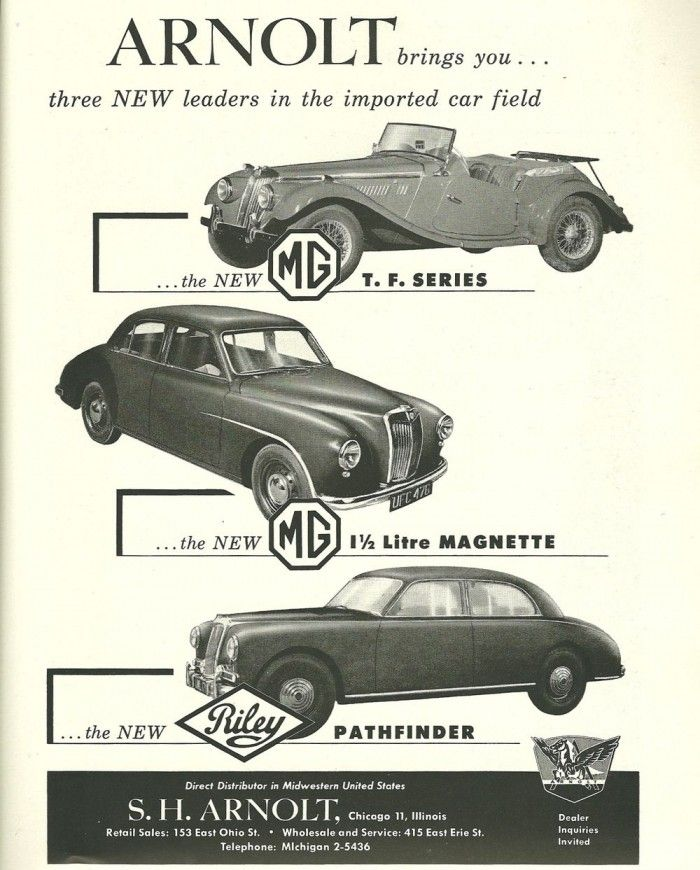Vintage Advertising S H Arnolt Mg And Riley Hemmings Daily Vintage Advertisements Car Illustration Car Advertising
