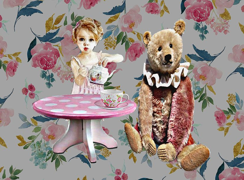 Teddy Bear Picnic, Cute Kid, Clipart, Scrapbooking Supples, Bear Tea ...