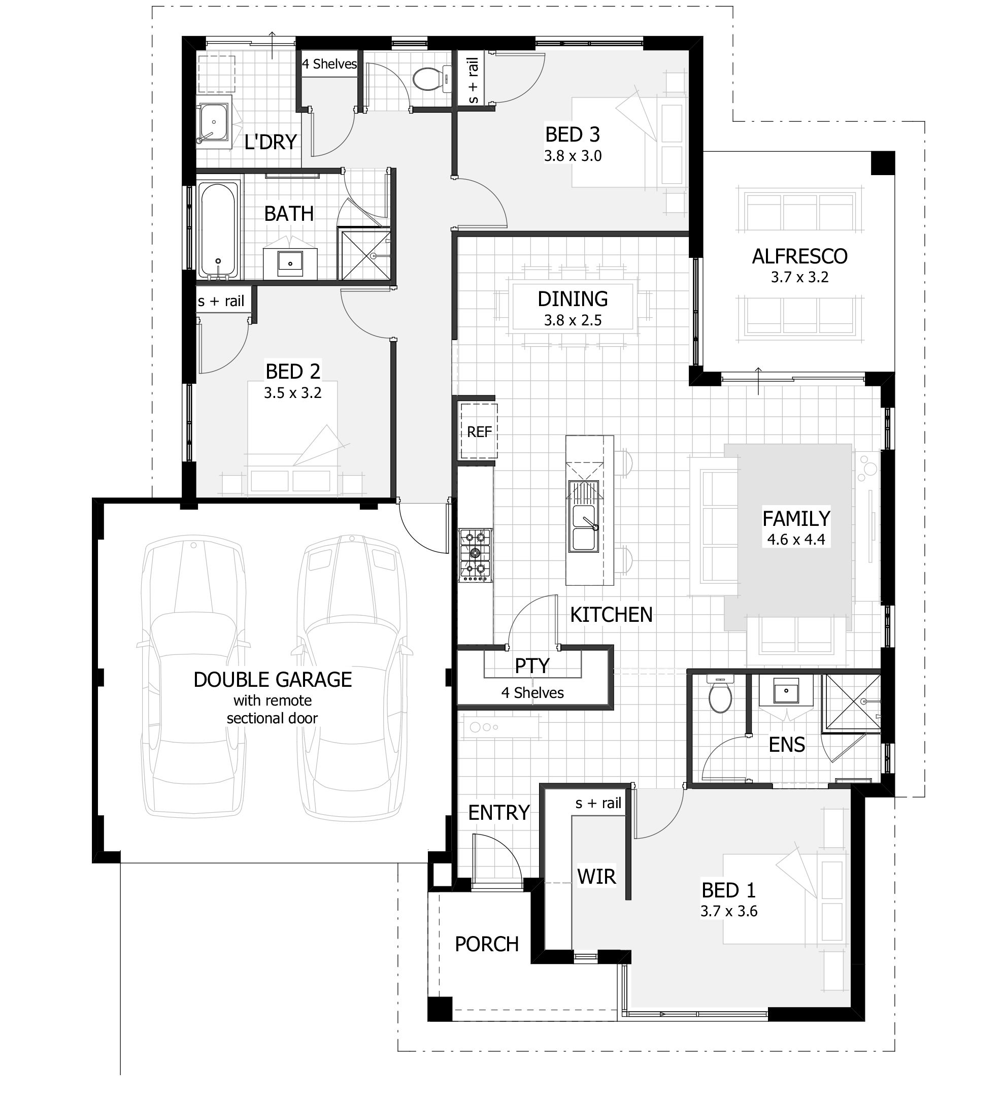 3 Bedroom House Floor Plan Floor Plan Beautiful Decor Master Designs Vpui Dont Need Sketch In 2020 Bedroom House Plans Three Bedroom House Plan Beautiful House Plans